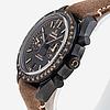 "Omega, speedmaster, dark side of the moon, vintage black, ""tachymètre"", chronometer, chronograph, wristwatch, 44,25 m."