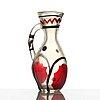 A glass pitcher/vase probably by ermanno nason for i.v.r mazzega, italy 1950's.