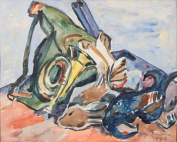 YRJÖ SAARINEN, akvarell, signerad och daterad 1942.