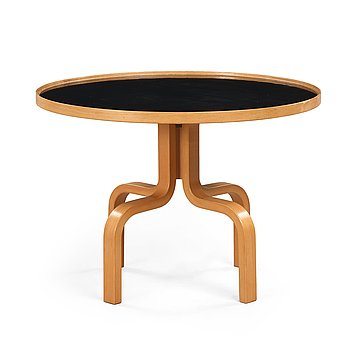 4. John Kandell, a red beech and black formica 'Parallell' table by Haglund & Söner, Sweden ca 1968.