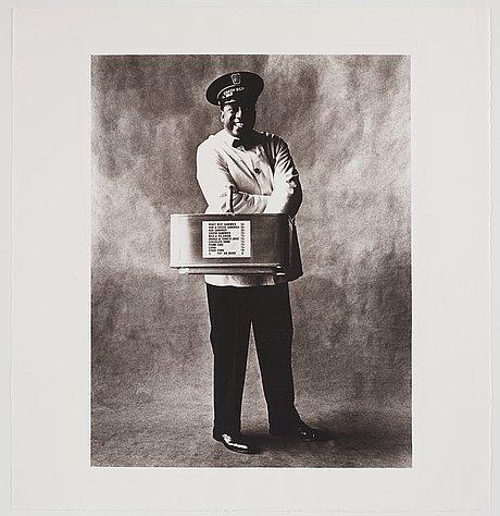 """Irving penn, """"train coach waiter, new york 1951""""."""