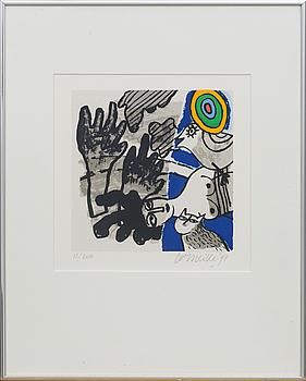 BEVERLOO CORNEILLE, färglitografi, signerad, numrerad 18/200 och daterad- 91.