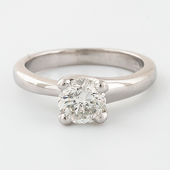 RING, med briljantslipad diamant 1.26 ct.