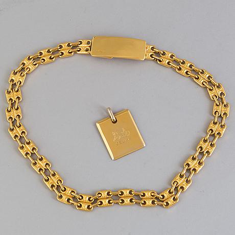 Belt/necklace and pendant, celine.