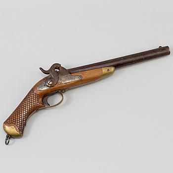 SLAGLÅSPISTOL, för kavalleriet, m/1850, kontrollstämplad 1853, Husqvarna Gevärsfaktori.