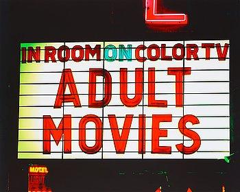 "136. Albert Watson, ""Adult Movies, Las Vegas"", 2001."