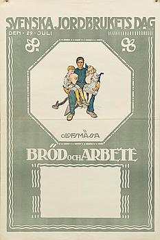 """AFFISCH, """"Svenska jordbrukets dag"""", 1917."""