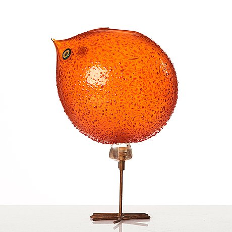 Peter pelzel, a 'pulcino' glass bird, vistosi, italy 1960's.