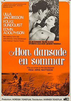"POSTER ""Hon dansade en sommar (A summer of happiness)"", 1968."