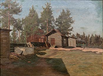 ELIAS MUUKKA, GÅRDSVY.