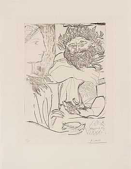 PABLO PICASSO, Etsning, 1934, utgiven av Galerie Louise Leiris, Paris 1961. Signerad med blyerts och numrerad 15/25.