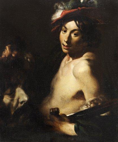 Jan lis (liss) tillskriven, david med goliats huvud.
