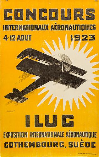 """Poster, """"concours internationaux aéronautiques 1923""""."""