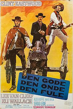"POSTER, ""Den gode, den onde, den fule (The good, the bad and the ugly)""."