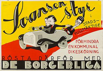 POSTER, Moje Åslund, 1930.