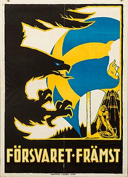 GUNNAR WIDHOLM, poster, 1914.