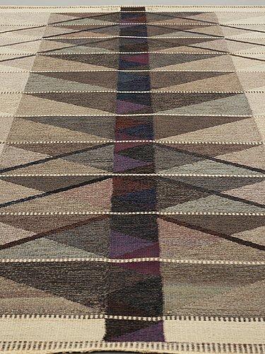 "Ingrid dessau, a carpet, ""vinterträd, grå"", flat weave, ca 226,5 x 149 cm, signed hb id."