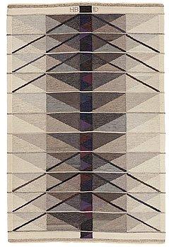 "210. Ingrid Dessau, A CARPET, ""Vinterträd, grå"", flat weave, ca 226,5 x 149 cm, signed HB ID."