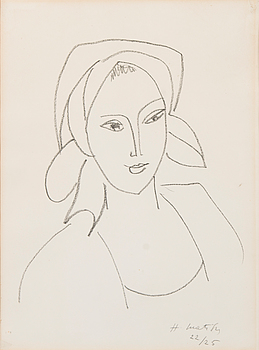 HENRI MATISSE, lithograph, signed in pencil and numbered 22/25.