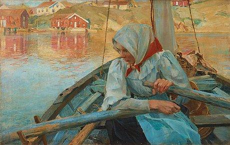 """Carl wilhelmson, """"fiskarflicka"""" (fishergirl)."""