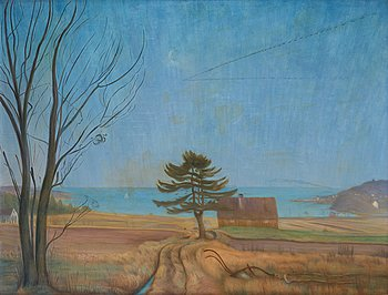 "252. Harald Sohlberg, ""Autumn evening (Nevlunghavn)""."