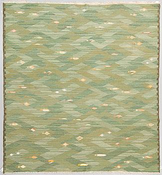 """MATTA, """"Fiskar"""", rölakan och gobelängteknik, ca 259 x 239,5 cm, sannolikt av Elsa Gullberg."""
