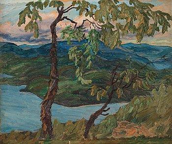 """254. Helmer Osslund, """"Sommardag (Häggviken)"""" [Summer day]."""