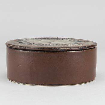 HERTA BENGTSSON, skål med lock signerad och daterad  Rörstrand 60.