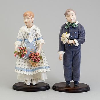 DOCKOR , ett par, porslin, Bing och Gröndahl, 1900-talets slut.