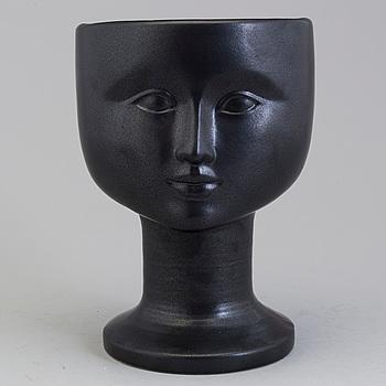LISA LARSON, vas, keramik, signerad Lisa L Made in Sweden.