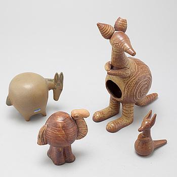 """LISA LARSON, 3 st figuriner, """"Stora Zoo"""" och """"Menageri"""" Gustavsberg, 1900-talets andra hälft."""