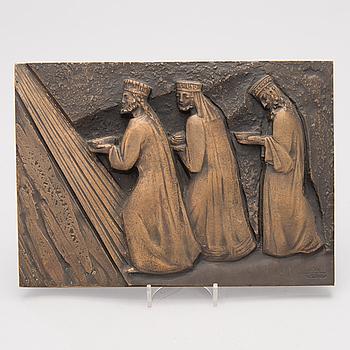 CARLO SESSA, relief, brons, signerad i godset C. Sessa, daterad Natale 1968.