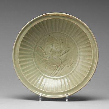 A celadon dish, Ming dynasty (1368-1644).