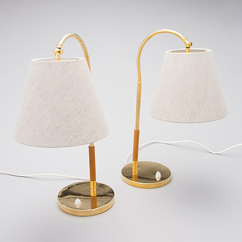A pair of mid-20th century '9201' table lamps for Idman, Finland.