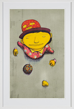 "OS GÊMEOS, OS GEMEOS, ""The other side"", 2014, a color litograph, signed and numbered 53/99."
