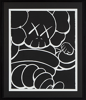 "KAWS ., KAWS, ""Running Chum"", 2000, seriegraph, signed and numbered 38/50."