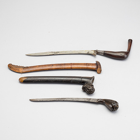 Two indonesian/south east asian daggers. lombok and sewar sumatra.