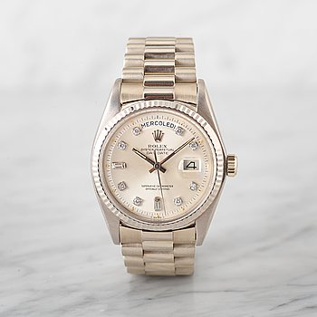 73. ROLEX, Oyster Perpetual, Day-Date, Chronometer, wristwatch, 36 mm,