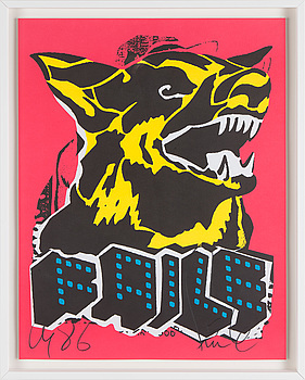 "FAILE (PATRICK MCNEIL & PATRICK MILLER), FAILE, ""Dog"", serigraphy, signerad. Date of creation c. 2006."
