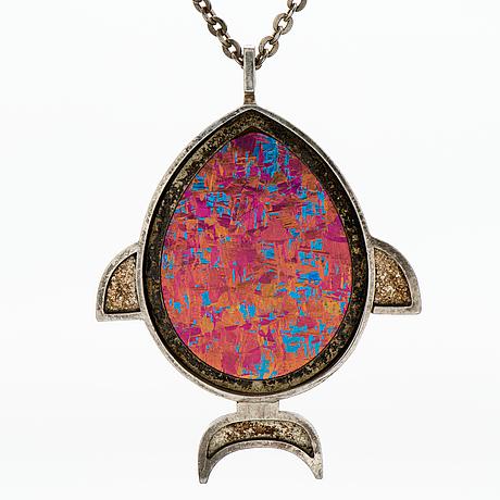 A nanny still pendant, silver, titanium. kultakeskus 1976
