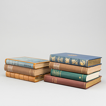 RESEBÖCKER, 6 st. bland annat Bland Kineser och Mongoler Resor af Alexis Kuylenstjerna Stockholm 1900-01.