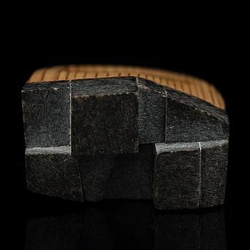 "HANNA RYYNÄNEN, RING, ""Frost"", diabase, wood, 2014."