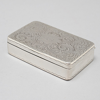 A silver box made by Anders Gottfrid Roos, Åbo, Finland, 1824.