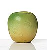 Hans hedberg, a faience sculpture of a green apple, biot, france.