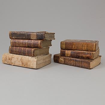 BÖCKER, 7 volymer, 1700-/1800-tal.