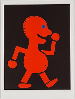 ROGER RISBERG, färglitografi, signerad RR och numrerad Pt [Provtryck] med blyerts.