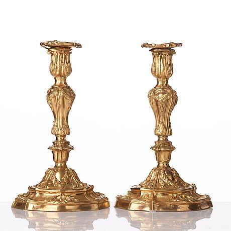 Ljusstakar, par, frankrike, 1700-talets mitt, louis xv.