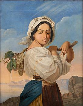 OKÄND KONSTNÄR, olja på duk, osignerad, 1800-tal.