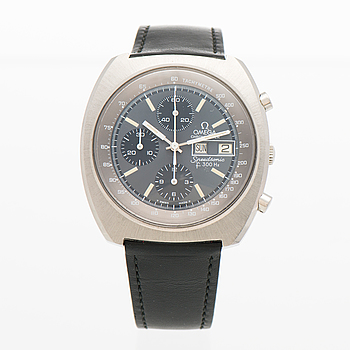 "OMEGA, Speedmaster, Speedsonic (f 300 Hz), ""Tachymetre"", Chronometer, armbandsur, 43 mm."