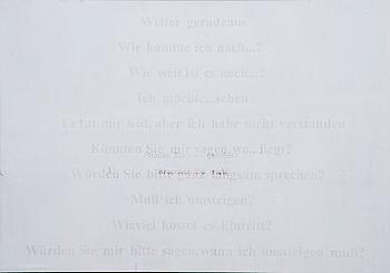 """SUSANNE GOTTBERG, """"DEN ANDRE ÄR ALLTID I ANKOMMANDE""""."""